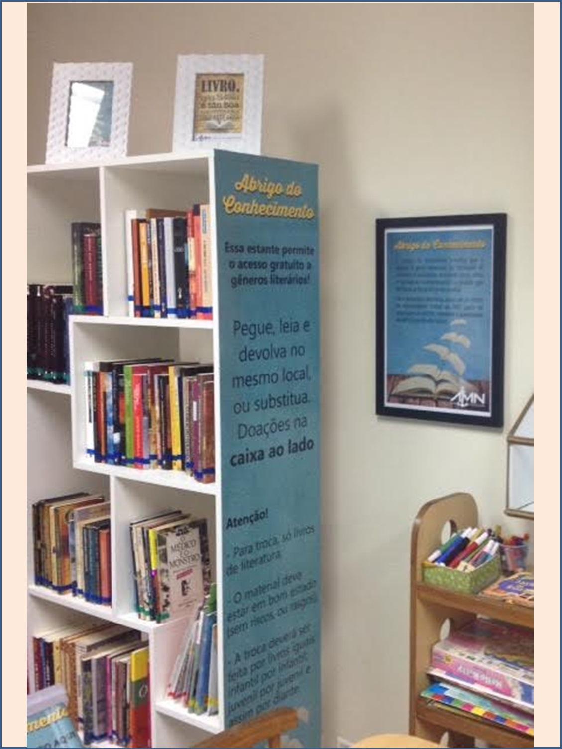estante do Abrigo do Conhecimento